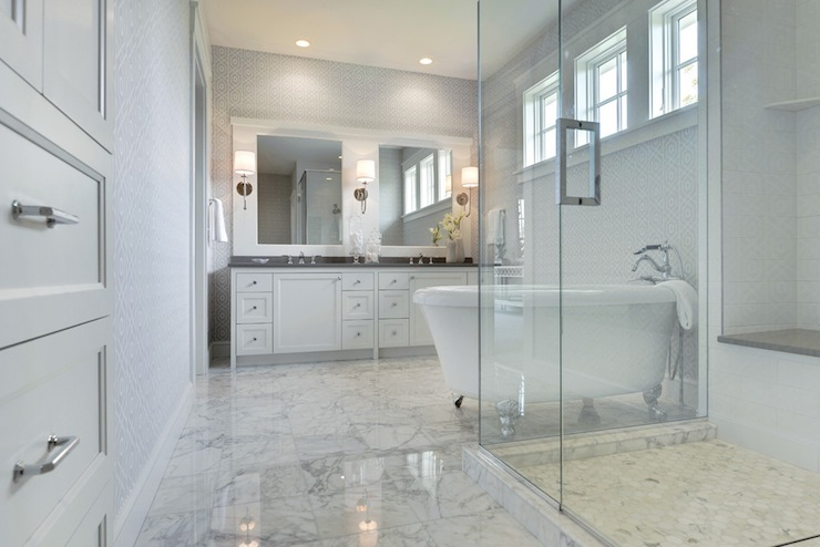 White Marble Tiled Floor