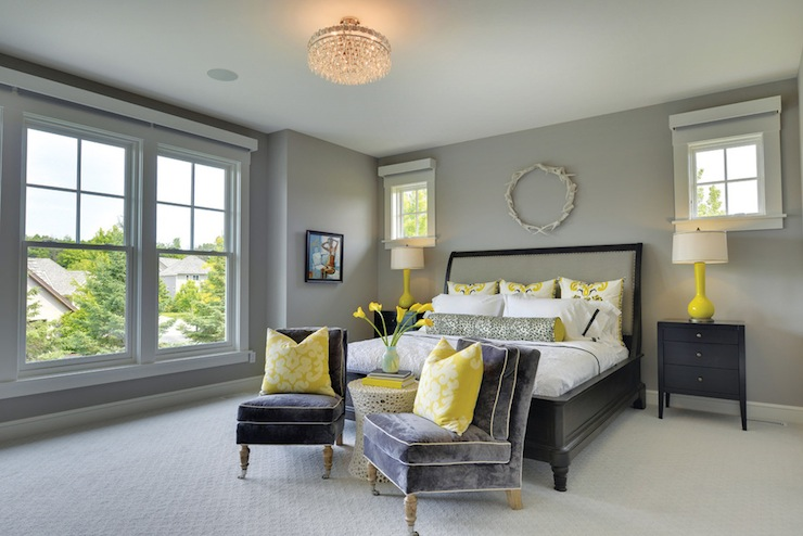 Bedroom Ideas Yellow And Gray yellow and gray bedrooms - transitional - bedroom - alexander designs