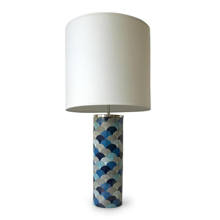 Carnaby one light blue fish scales table lamp aloadofball Image collections