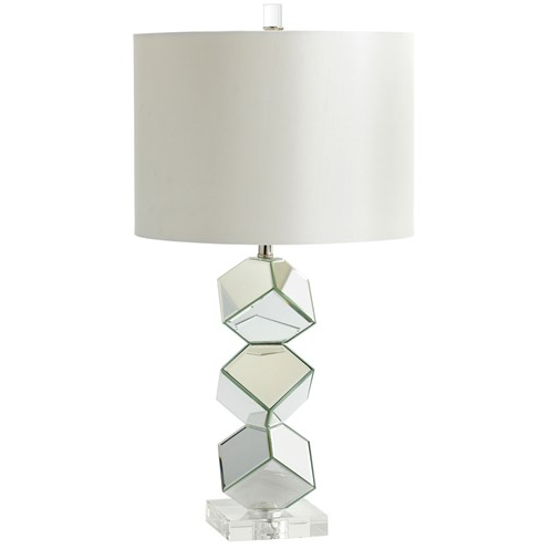 Mirrored Lamp Look 4 Less and Steals and Deals