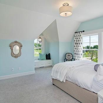 Window Seat Alcove, Cottage, bedroom, Martha O'Hara Interiors