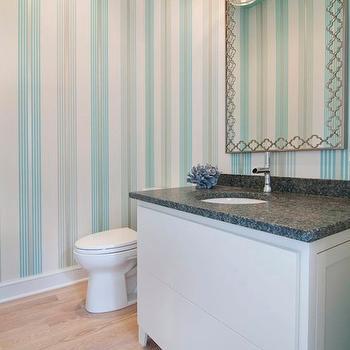Quatrefoil Mirror, Contemporary, bathroom, Martha O'Hara Interiors