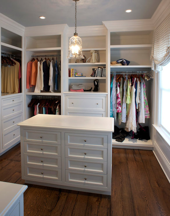 Bell Jar Pendant Transitional Closet East End Country Kitchens