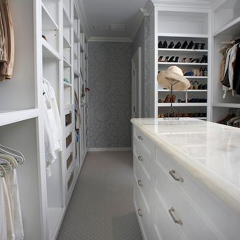 Wallpaper in Closet, Transitional, closet, East End Country KItchens