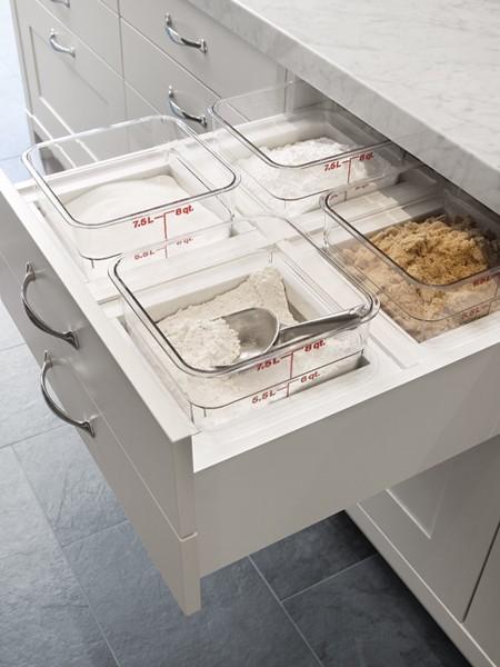 Baking drawer transitional kitchen house home for Secret drawer kitchens