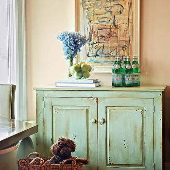 Green Cabinet, Country, dining room, Traci Zeller Designs