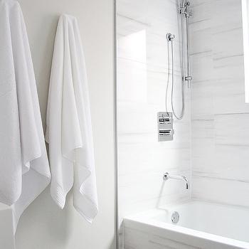 White Marble Alternatives Modern Bathroom Aubrey Lindsay
