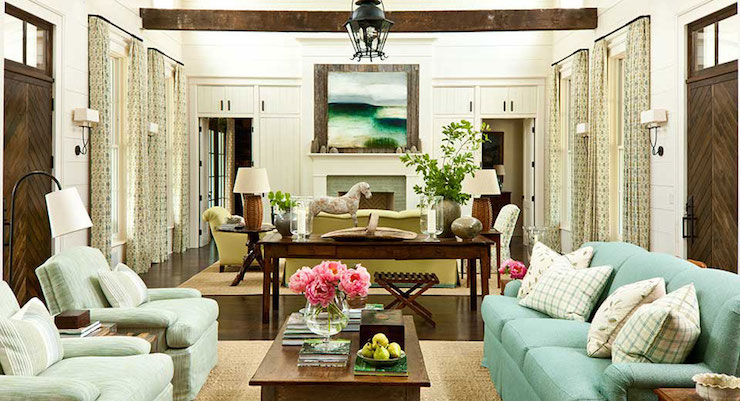 Long Living Room - Cottage - living room - Sherwin Williams ...