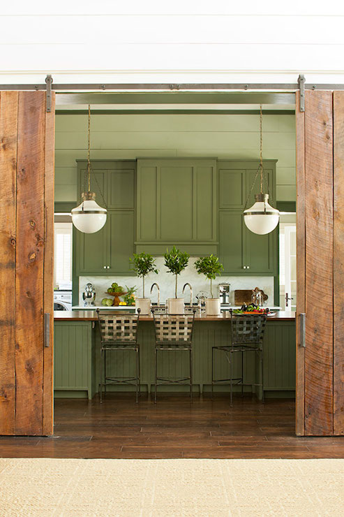 Kitchen With Barn Doors