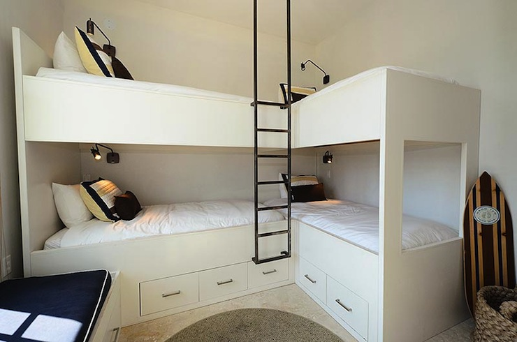 Corner Built in Bunk Beds with Storage 740 x 490