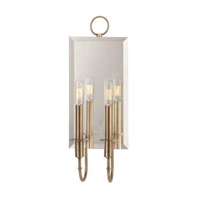 Two Light Beveled Mirror Brass Trim Wall Sconce  sc 1 st  Decorpad & Light Beveled Mirror Brass Trim Wall Sconce azcodes.com