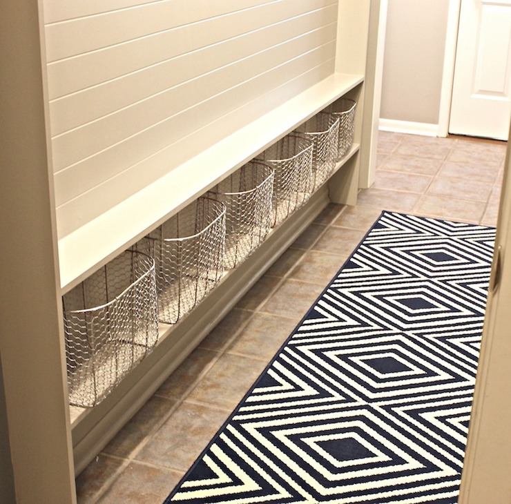 Mudroom Rugs - Transitional - laundry room - The Creativity Exchange