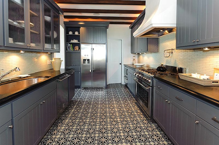 Moroccan Tile Floor Eclectic Kitchen Alys Beach