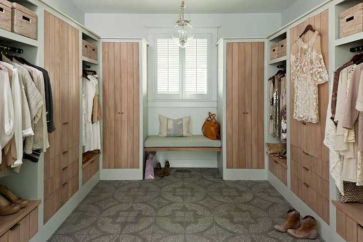 Limed Pine Cabinets Cottage Closet Sherwin Williams