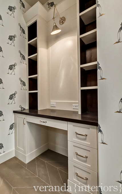 Mudroom Desk Contemporary Laundry Room Veranda Interiors
