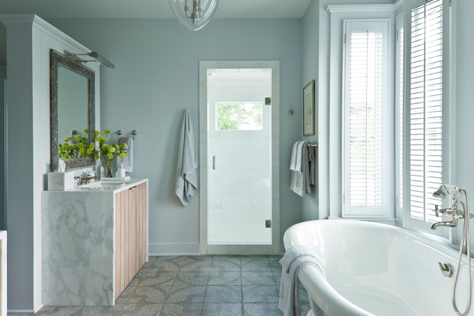 Spa Like Bathroom Cottage Bathroom Sherwin Williams