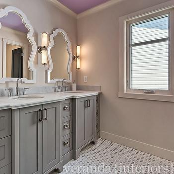 Grey Bathroom Transitional Bathroom Veranda Interiors