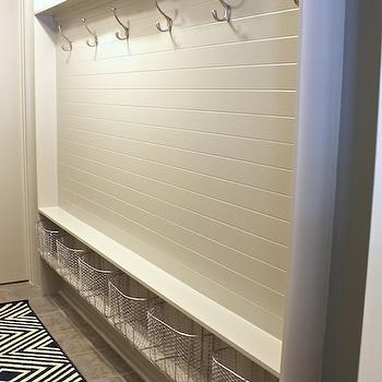 Mudroom Beadboard, Transitional, laundry room, Sherwin Williams Mindful Gray, The Creativity Exchange