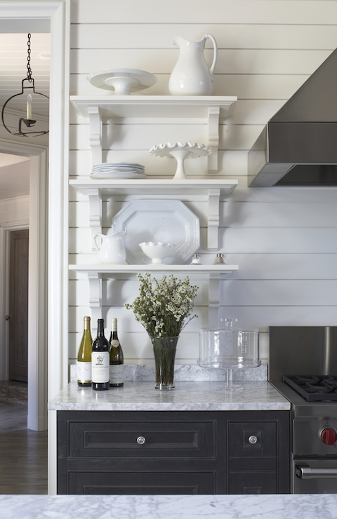 Kitchen Shelving Cottage Kitchen Benjamin Moore