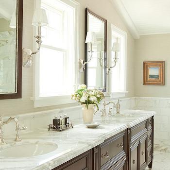 Mahogany Double Washstand, Transitional, bathroom, Wendi Young Design