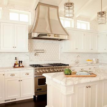 Nautical kitchen pendants design ideas for Nautical kitchen backsplash