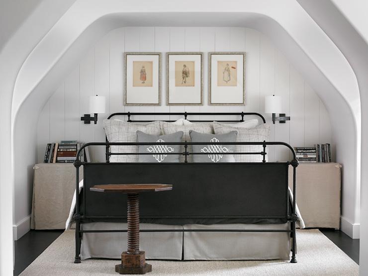 Skirted Bedside Tables Cottage Bedroom Atlanta Homes