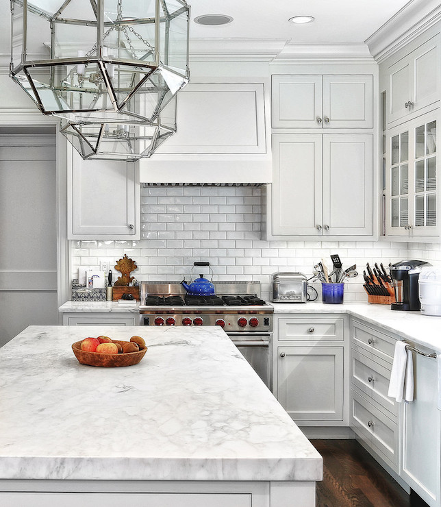 White Cabinets Gray Subway Tile Kashmir White Granite: White Subway Tile With Dark Grout Design Ideas