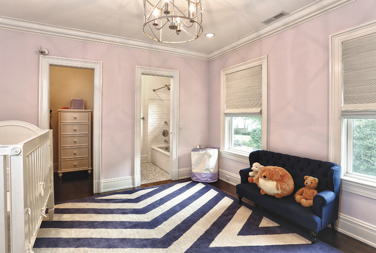 Pink And Blue Nursery Contemporary Nursery Derosa