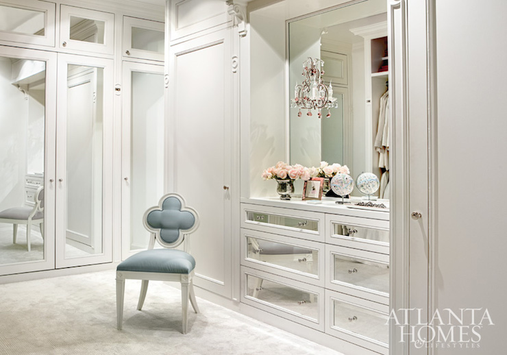 Mirrored vanity traditional bedroom architectural digest Walk in bedroom closets