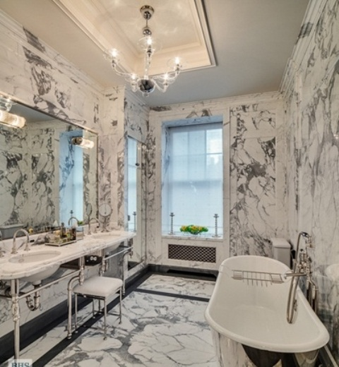 Grey And White Marble Bathroom: Marble Bathroom