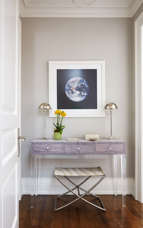 Lucite Console Table Design Ideas