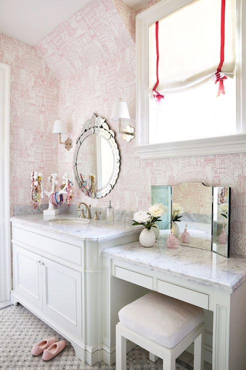 Girl 39 s bathroom ideas transitional bathroom anne for Girls bathroom ideas