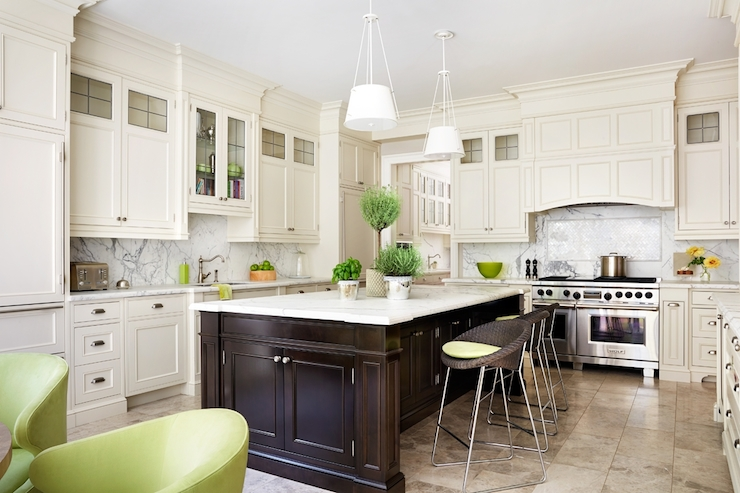 Ivory Kitchen Cabinets  Transitional  kitchen  Anne Hepfer Designs