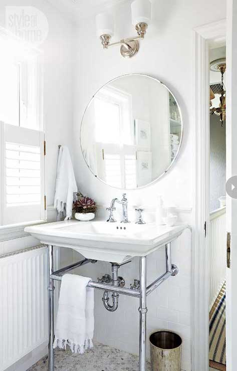 All White Bathroom Transitional Bathroom Style At Home