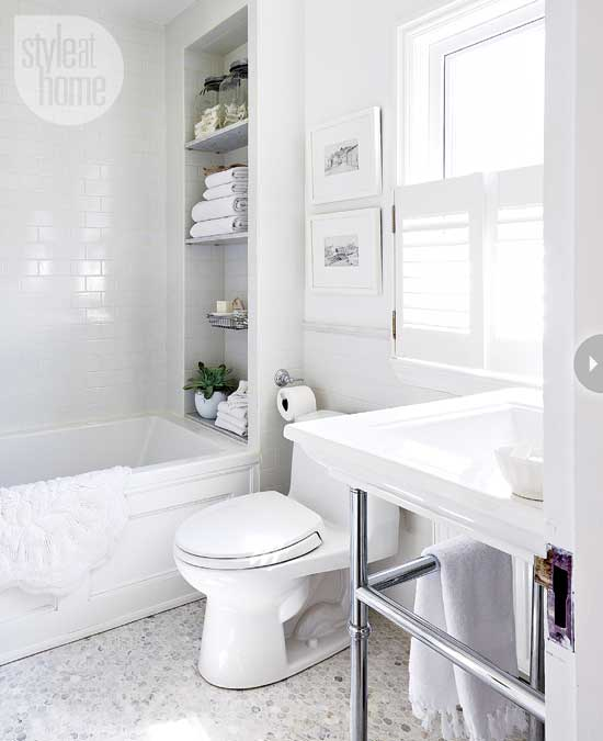 All White Bathroom all white bathroom - transitional - bathroom - style at home