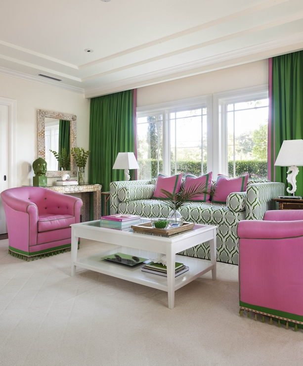pink and green living room ideas pink and green room design ideas 26442