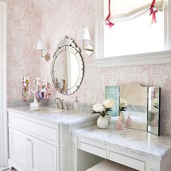 Girl's Bathroom Ideas, Transitional, bathroom, Anne Hepfer Designs