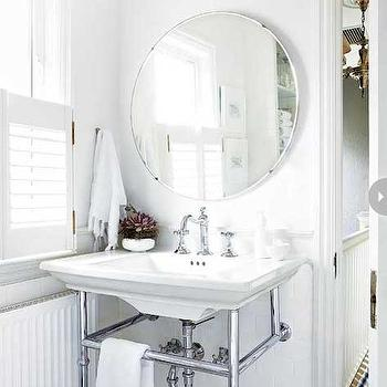 All White Bathroom, Transitional, bathroom, Style at Home