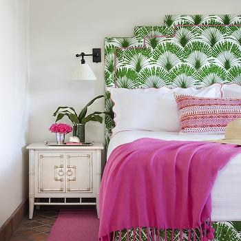 Green and Purple Bedroom with Juju Hat - Contemporary - Bedroom