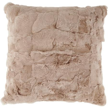 Threshold Long Fur Decorative Pillow : Threshold Long Haired Gray Fur Pillow