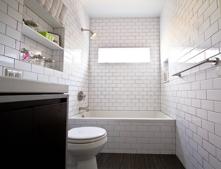 Bathroom Subway Tiles Contemporary Bathroom