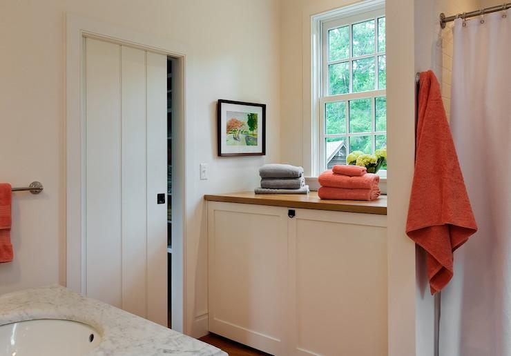 Hidden Washer And Dryer Cottage Bathroom Crisp