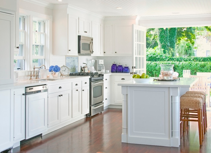 hidden dishwasher transitional kitchen beach glass