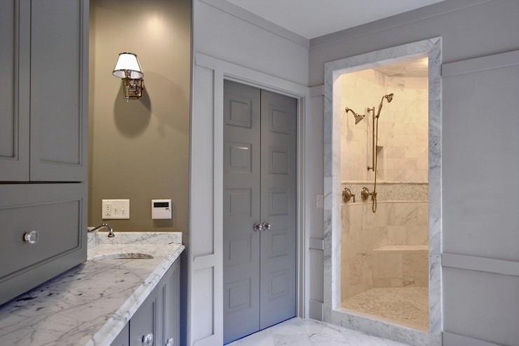 Gray Doors Contemporary Bathroom Benjamin Moore