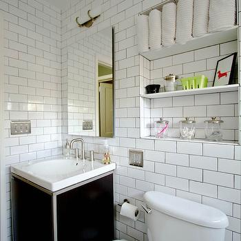 Shelves Over Toilet Cottage Bathroom