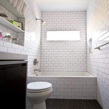 black and white shower tiles - contemporary - bathroom - hgtv