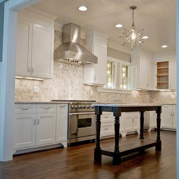 Silver Cloud Marble, Transitional, kitchen, Fitzgerald Construction