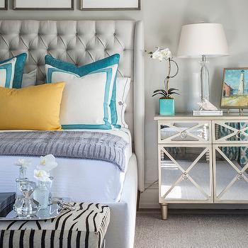 Zebra  Bench, Contemporary, bedroom, Beach Glass Interior Designs