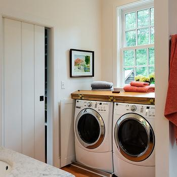 Bathroom Washer And Dryer Transitional Laundry Room