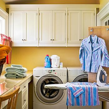 Hidden Ironing Board, Traditional, laundry room, Crisp Architects